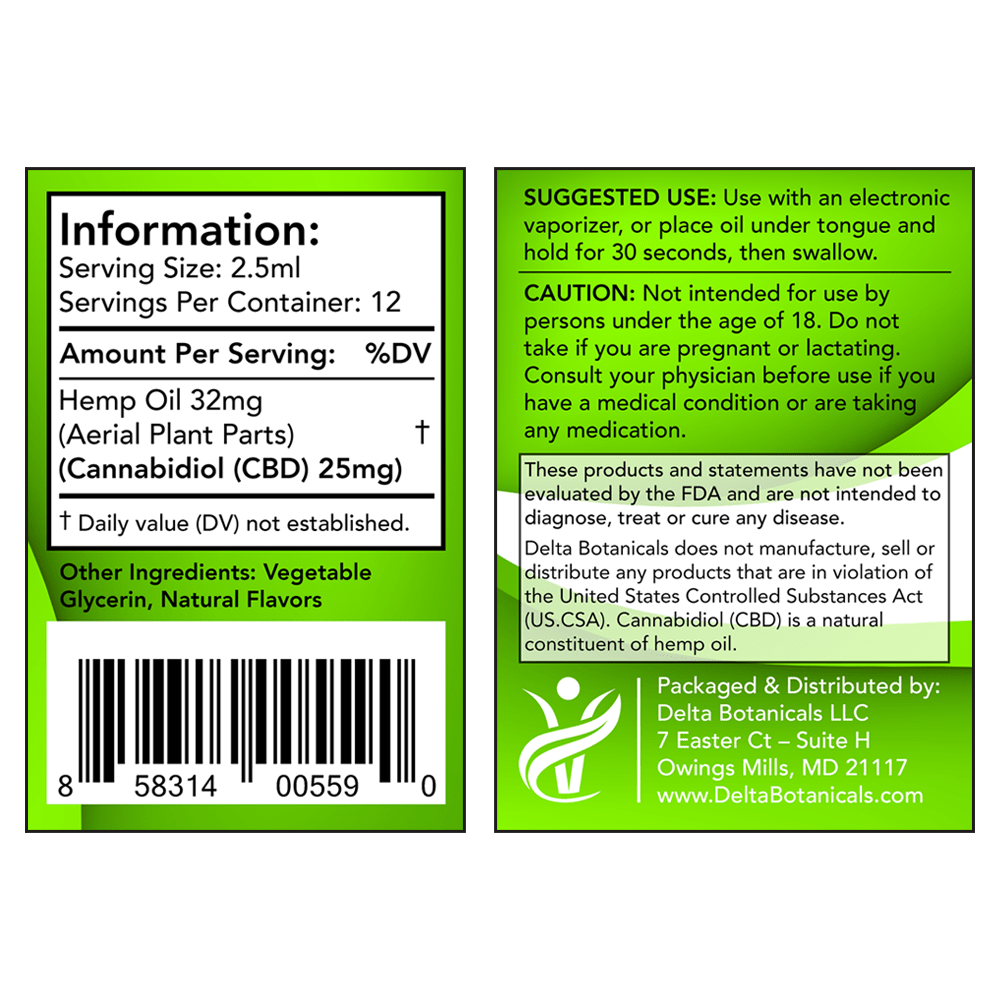 Citrus Fruits CBD E Liquid - 300mg CBD | 30ml Vape Oil