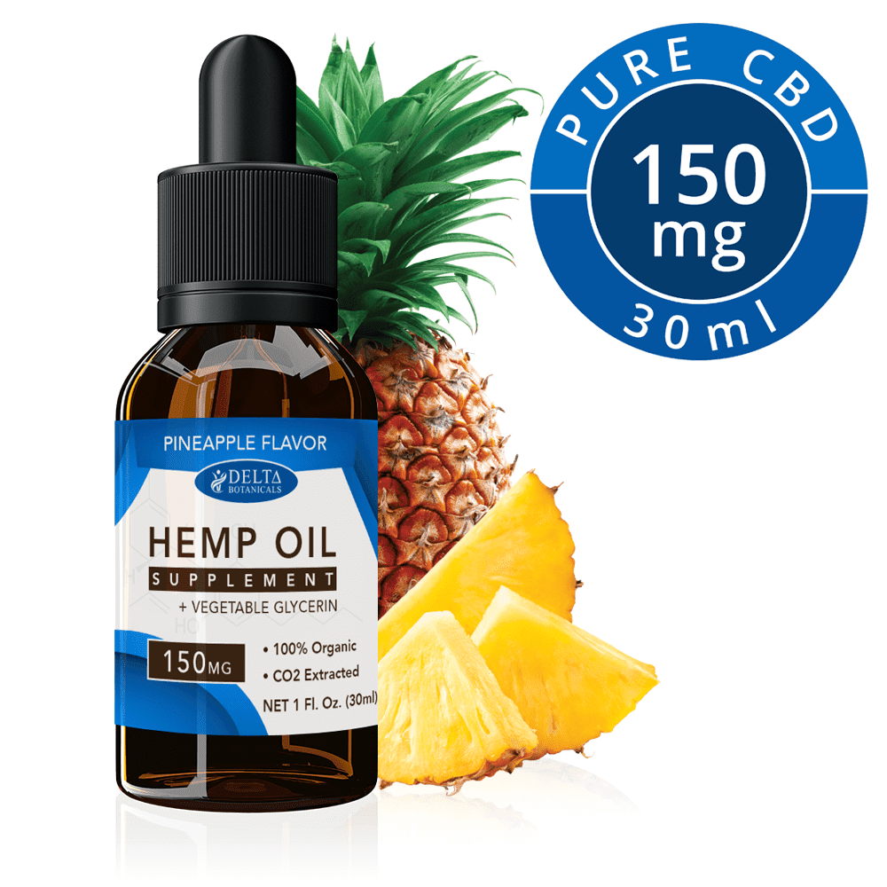 Pineapple CBD E Liquid - 150mg CBD | 30ml Vape Oil