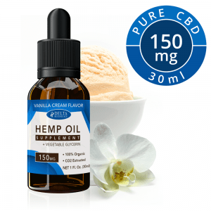 Vanilla Cream CBD E Liquid - 150mg CBD | 30ml Vape Oil