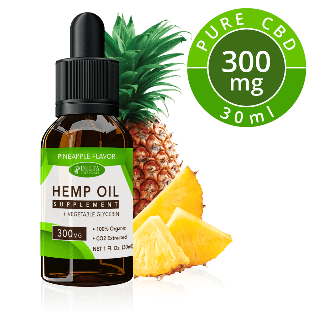 Pineapple CBD E Liquid - 300mg CBD | 30ml Vape Oil