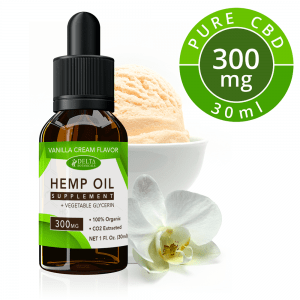 Vanilla Cream CBD E Liquid - 300mg CBD | 30ml Vape Oil