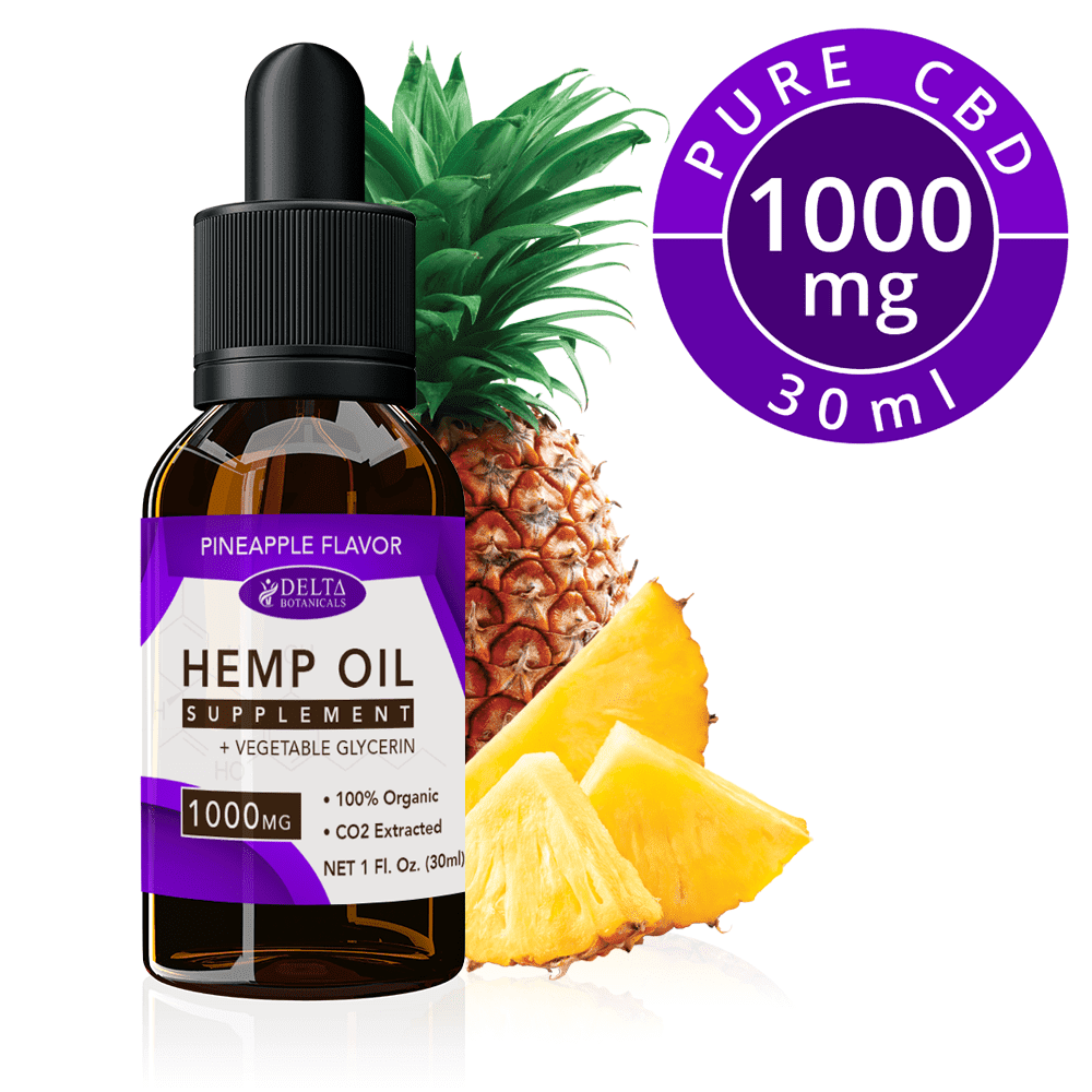 Pineapple CBD E Liquid - 1000mg CBD | 30ml Vape Oil