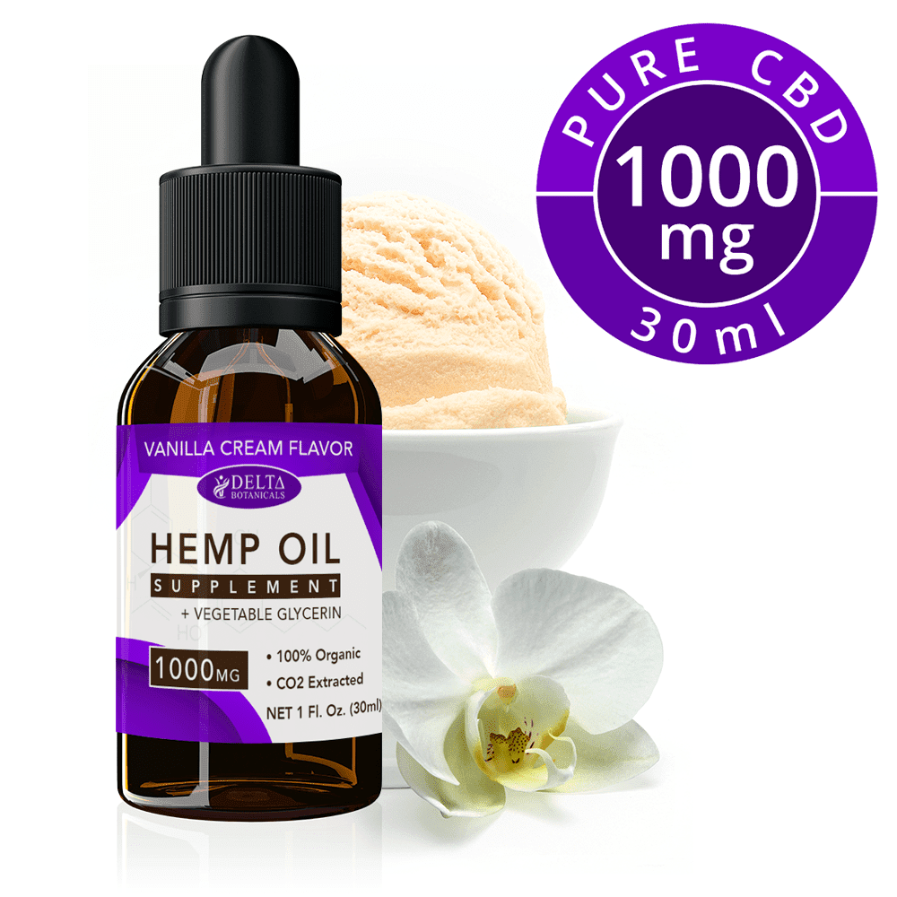 Vanilla Cream CBD E Liquid - 1000mg CBD | 30ml Vape Oil