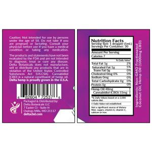 CBD Oral Tincture - 1000mg CBD | 30ml Oral Tincture