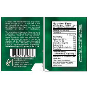 CBD Oral Tincture - 300mg CBD | 30ml Oral Tincture